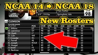 NCAA Football 14: How to Update Rosters to 2017 - 2018 Season (Xbox 360 & PS3)