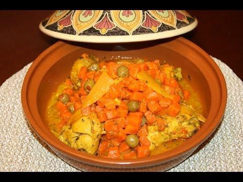 recette-tagine-marocain-au-poulet-&-carottes---moroccan-chicken-tagine-with-carrots---recettes-maroc