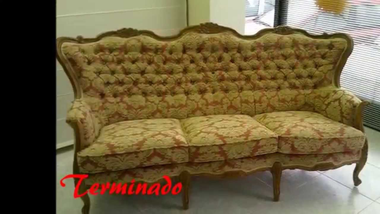 Tapizar sof en capiton youtube - Restaurar sillon antiguo ...