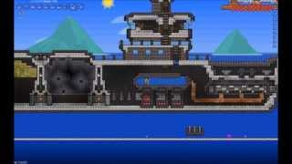 Terraria - Speed Building - Coal Barge Complete Build