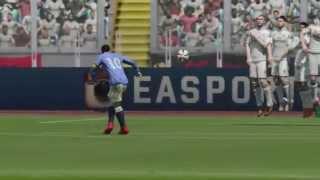 FIFA 15  INSANE RABONA FREE KICK FUT