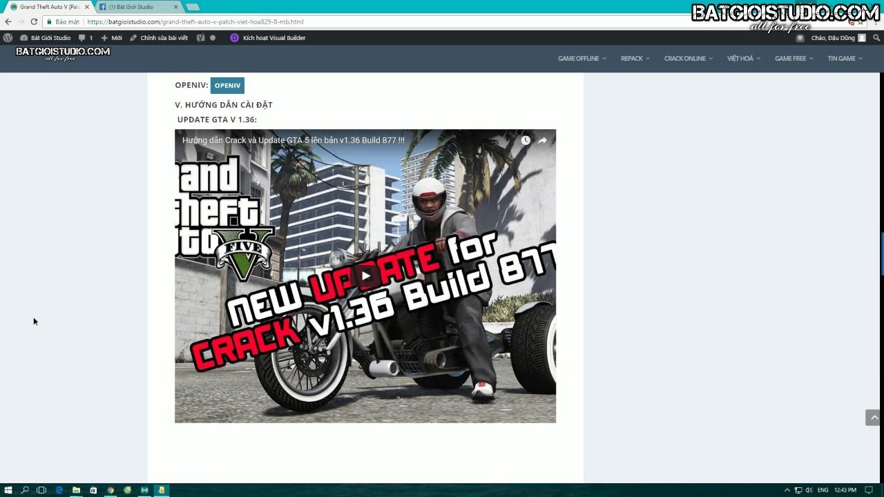 Grand Theft Auto V [31 GB] [Update] [Việt Hóa] [Crack Online] - Bát