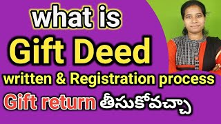 what is gift deed for property transfer in telugu|gift written registration process