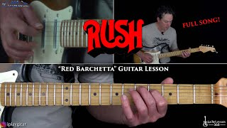 Rush - Red Barchetta Guitar Lesson (Full Song)