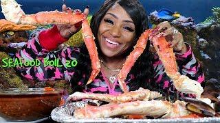 Seafood Boil 20 Mukbang, King Crab Legs, Mussels, Tiger Shrimp, Lobster
