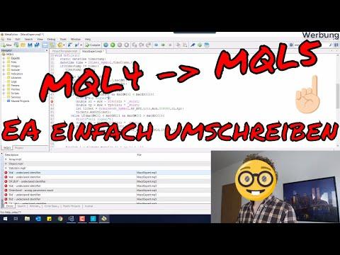 Expert Advisor von MQL4 (MT4) zu MQL5 (MT5) übersetzen