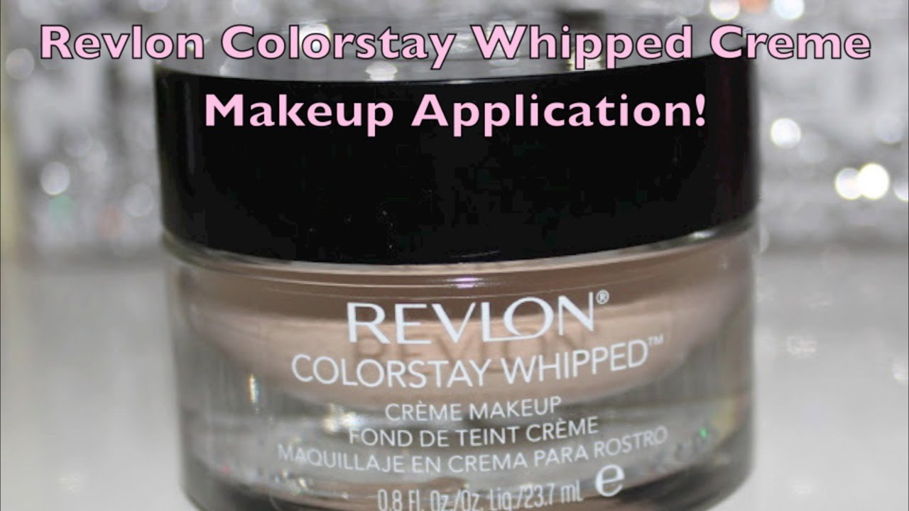 NEW Revlon Colorstay Whipped Creme Makeup Application! - YouTube