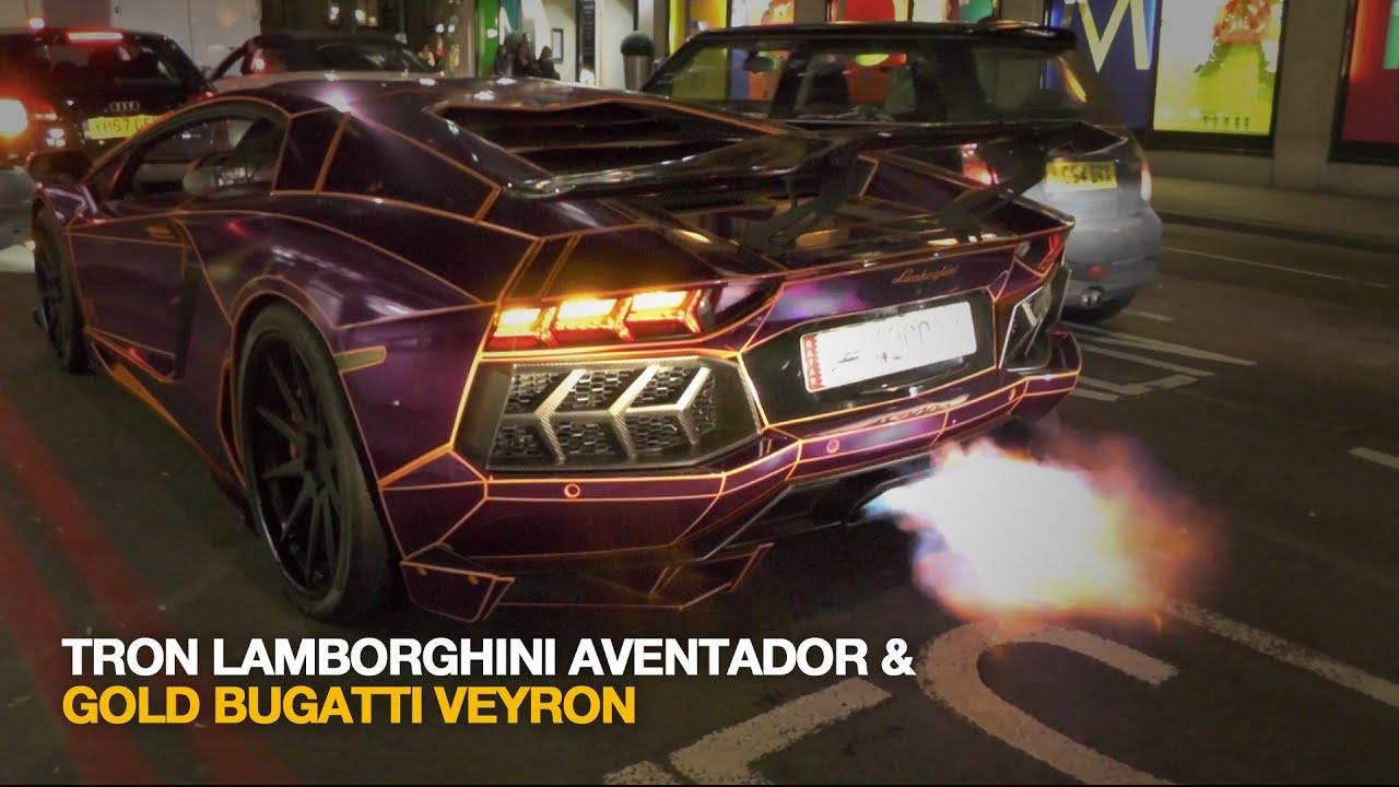 Tron Lamborghini Aventador Flaming Amp Gold Bugatti Veyron