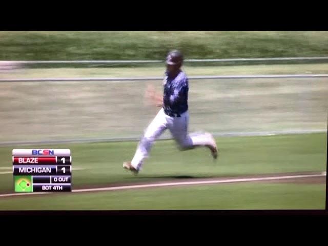 Adam Fitzgibbon RBI Triple Michigan Braves