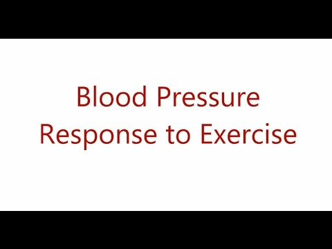 Your blood pressure response to exercise