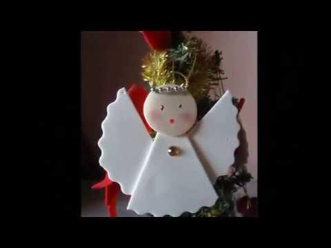 Enfeite De Natal Anjinho De Eva