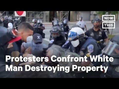 D.C. Protesters Confront White Man Destroying Public Property | NowThis
