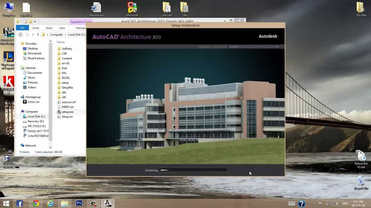 Installing autocad architecture 2013 14 on windows 8 net for Windows 8 architecture