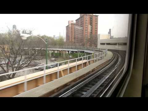 CTA Purple Line Express ride from Linden to Harold Washington Library