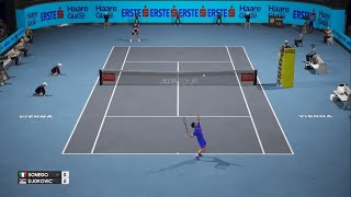 Lorenzo Sonego vs Novak Djokovic ATP Vienna/AO.I.Tennis 🎾