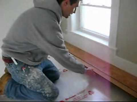 How To Install A Pergo Floor From Www.LearnToFlipRealEstate.com   YouTube