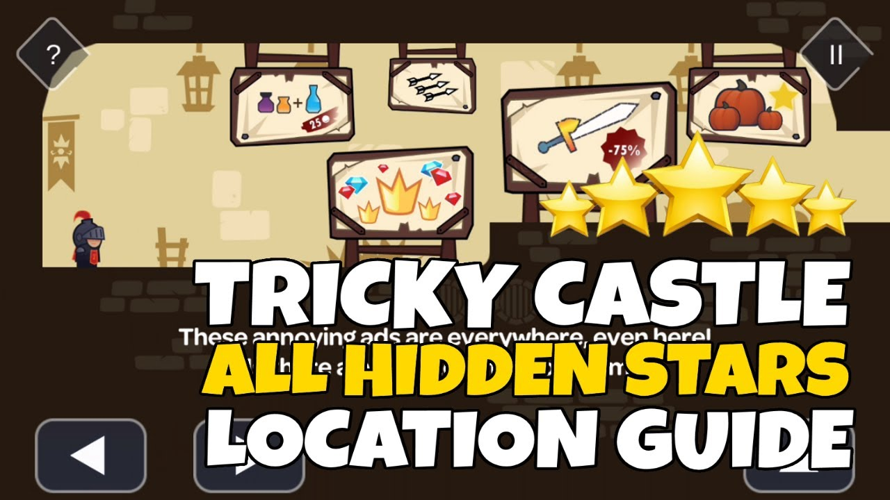 Tricky Castle All Hidden Stars Location Walkthrough Youtube
