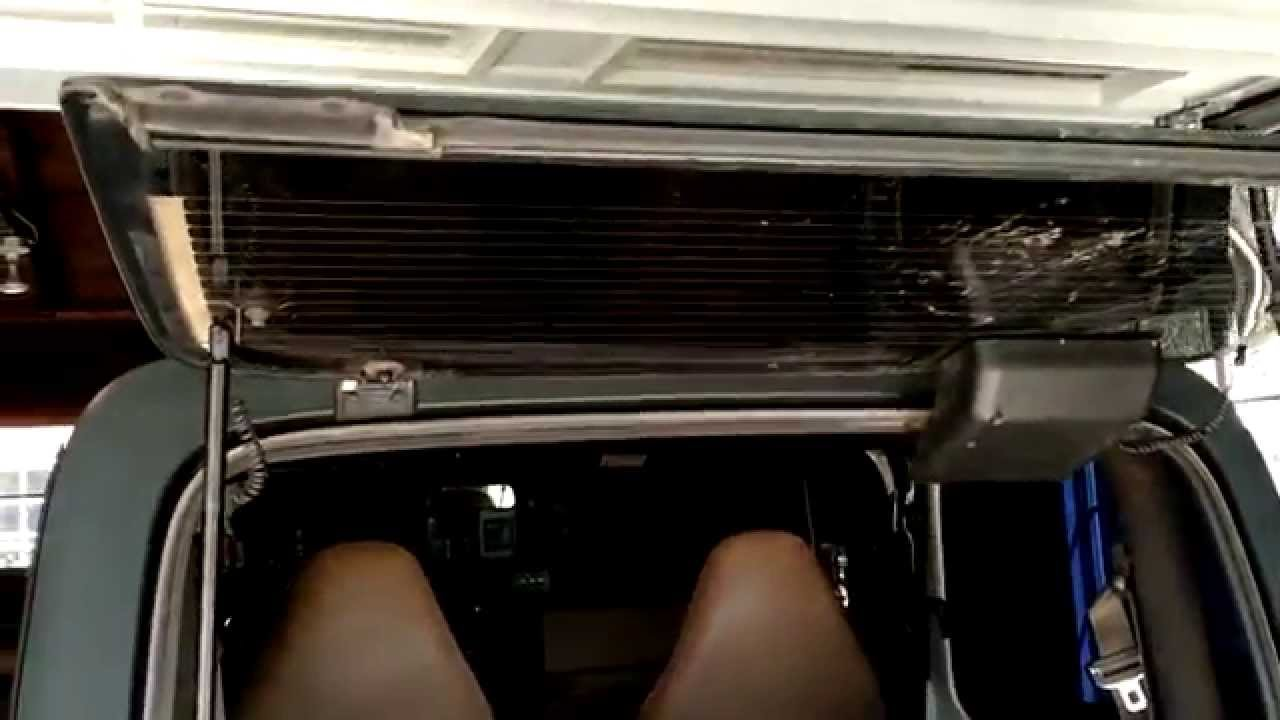 How to remove and install jeep wrangler rear window struts  YouTube