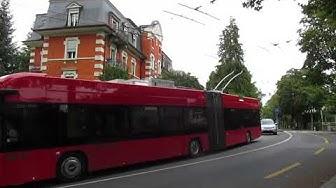 Bern: Muristrasse - Grosser Muristalden. Trolleybus nr. 23, route 12