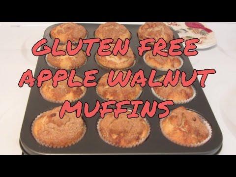 Gluten Free Apple Walnut Muffins