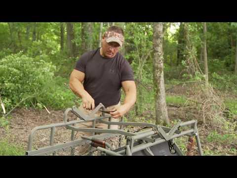 Summit The Vine Single Hunter Ladder Stand   Safety Video