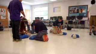 Tad Teaching CPR
