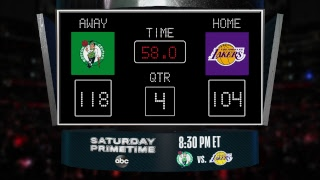 Celtics @ Lakers LIVE Scoreboard - Join the conversation & catch all the action on #NBAonABC!
