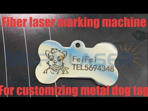 Morn Fiber laser marking machine for customizing metal dog tag