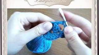 Вязание крючком - Вязка квадратом.