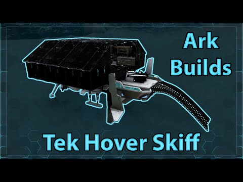 Ark Builds - Taming/Farming Tek Hover Skiff - Ark Genesis Build