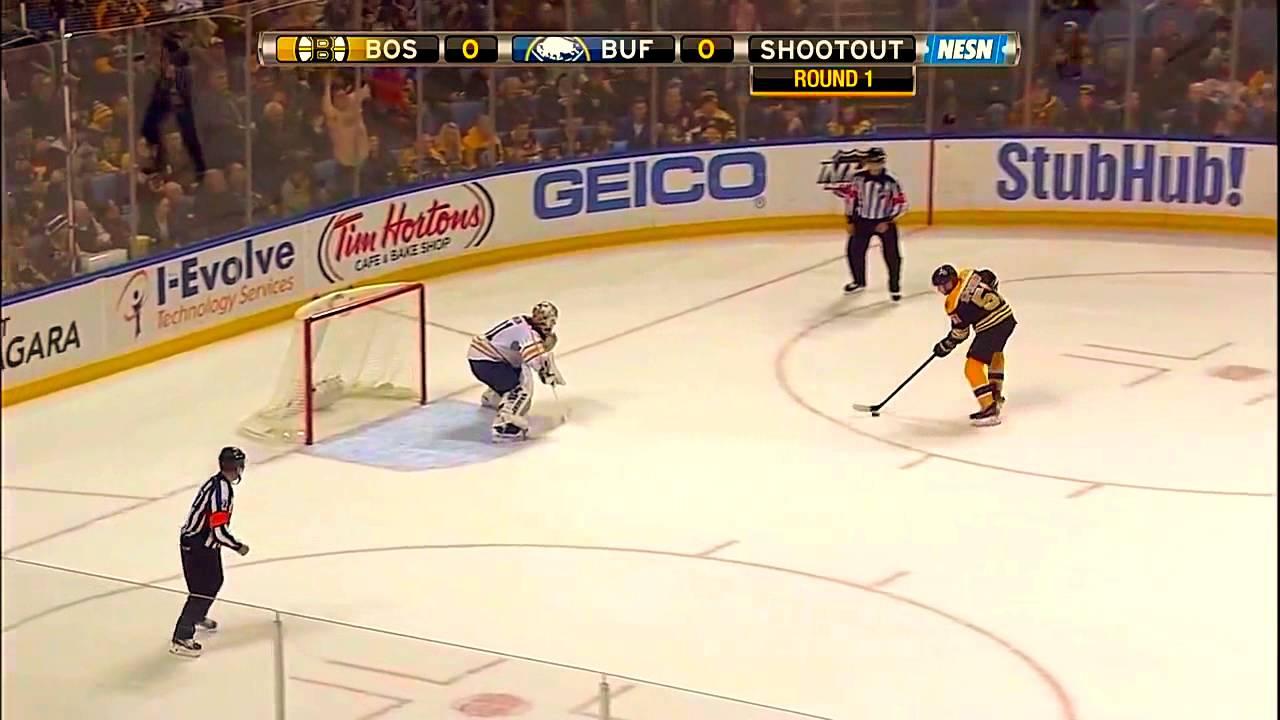 Ryan Spooner SO Winner - Boston Bruins v Buffalo Sabres