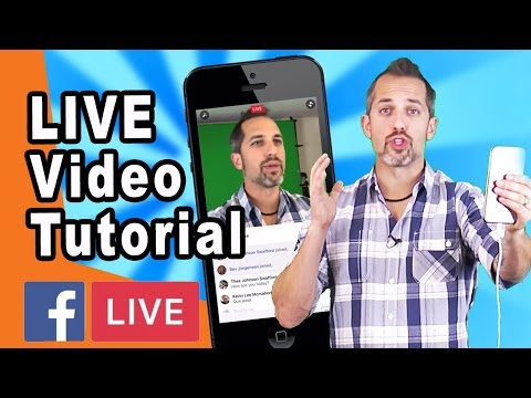 How to go LIVE on Facebook from mobile (Facebook live tutorial)