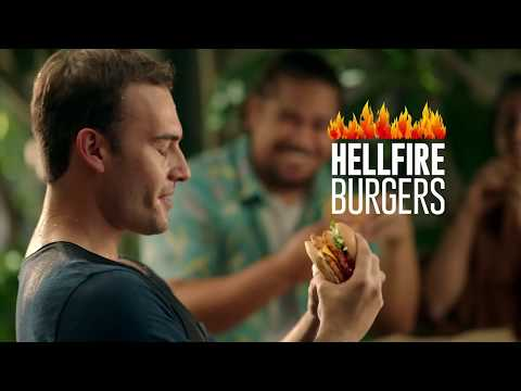 We Tried Red Rooster's Range Of Hellfire Burgers And Here's What Happened