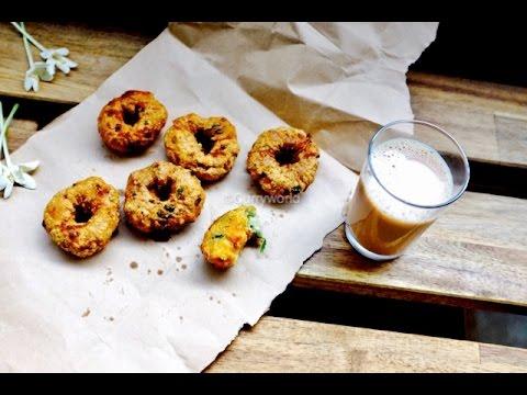 Kerala Chaya Kada Style Savala Vada/Thula Vada/Ulli Vada/Mulaku Vada/ -Recipe No 75