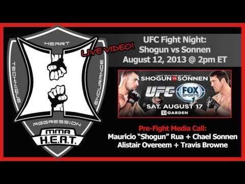 UFC Fight Night: Shogun vs Sonnen Pre-Fight Conference Call (LIVE! 2pm ET / complete + unedited)