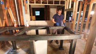 Steel Aquarium Stand - Degrease And Clean For Paint