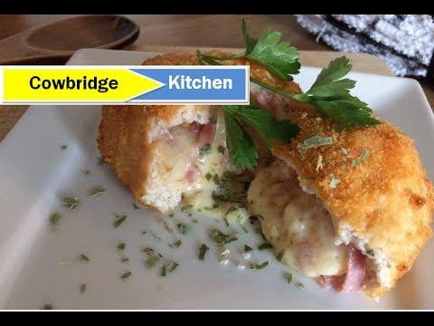 Chicken Kiev With Cheese Ham Youtube