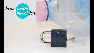 How to open a padlock easy with a 5 liter bottle - Homemade inventions