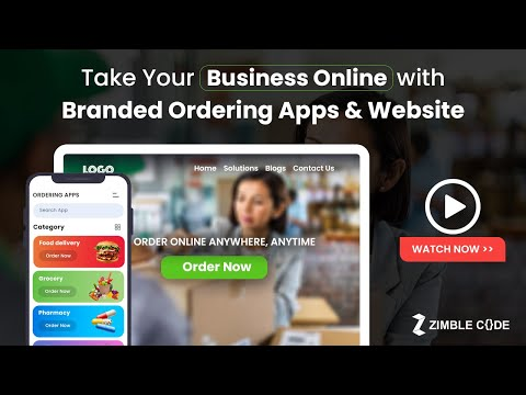 Take Your Business Online with Branded Ordering Apps & Website | ZimbleCode