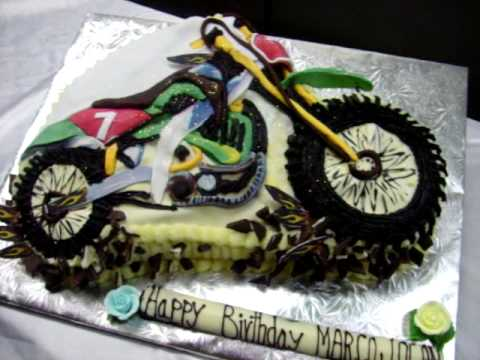 GURU CHEF ROHAN CREATES A DIRTMOTORCROSS BIKE CAKE YouTube