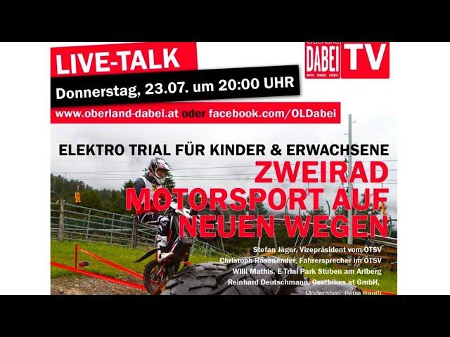 Oberland DABEI Livetalk: ETrail -Zweirad Motorsport auf neuen Wegen