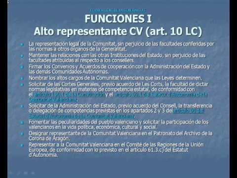 umh1658 2012-13 Lec008 El President de la Generalitat y el Consell