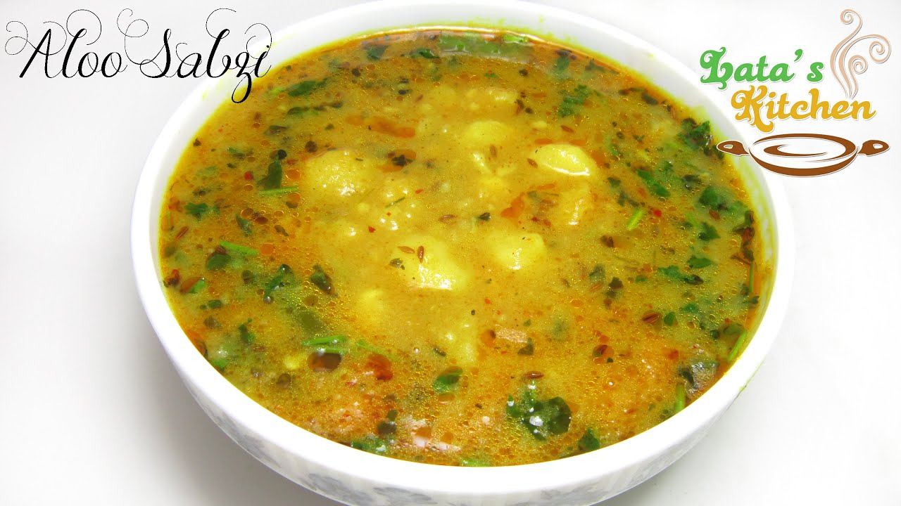 Aloo Sabzi Recipe (potato Curry)  Indian Vegetarian Recipe Video In Hindi   Lata's Kitchen  Youtube