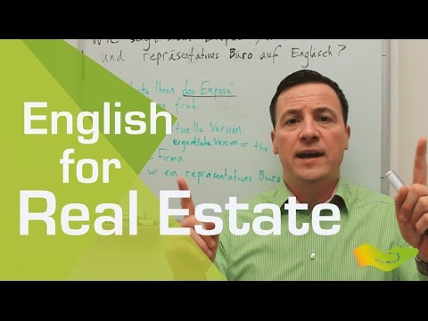 English lesson. Key vocabulary for property managers and real estate agents