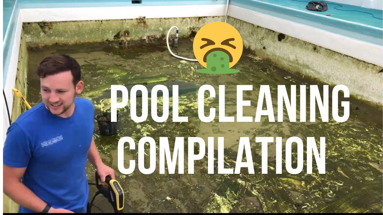 Download Satisfying pool cleaning compilation