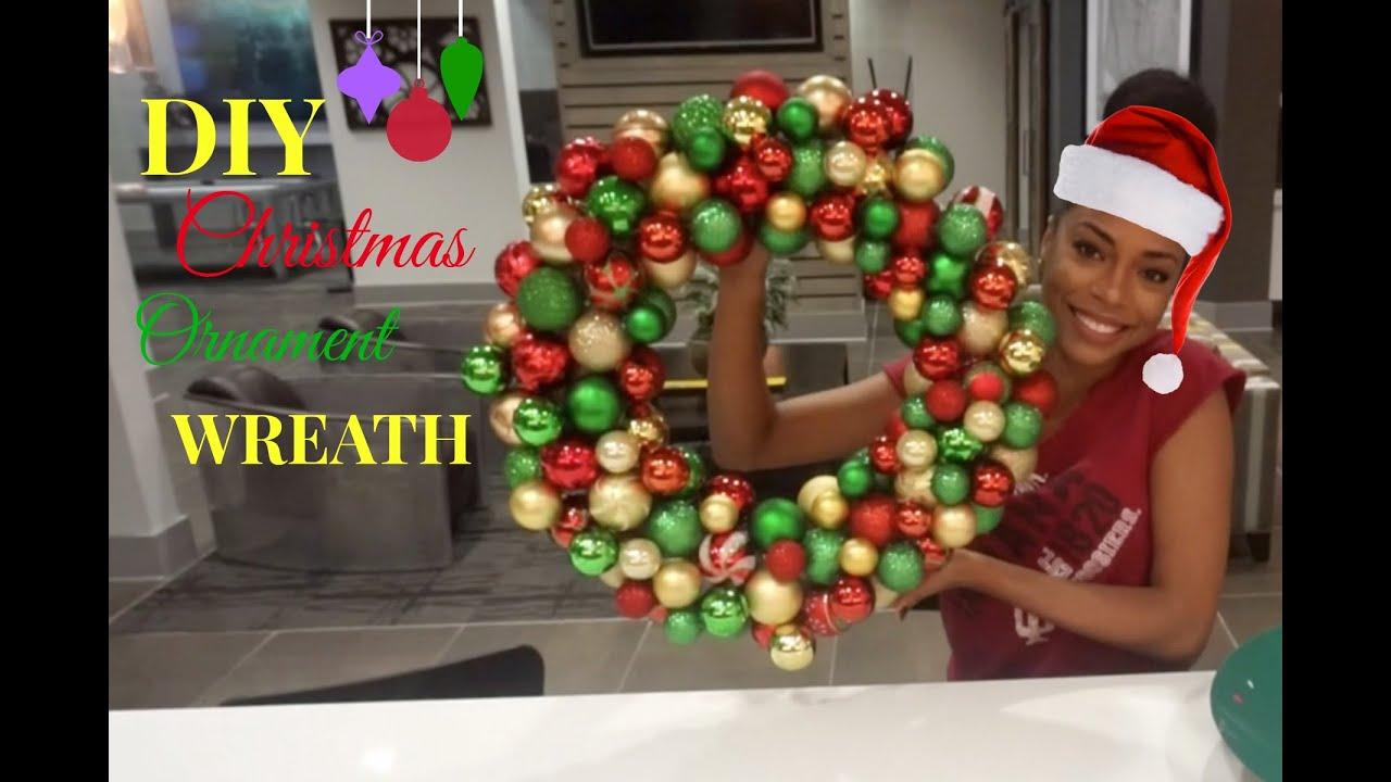 DIY Christmas Ornament Wreath Tutorial - YouTube