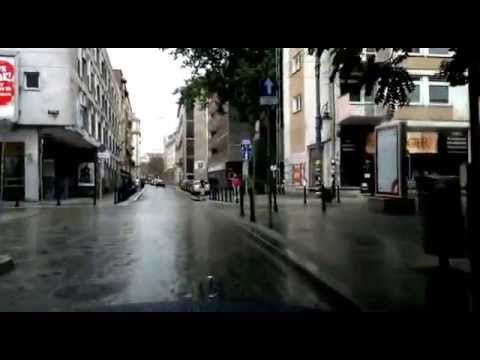 Driving in Wrocław, Poland (Stadium, Old Town, Bermuda Triangle) August 2014