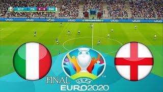 ITALY vs ENGLAND UEFA Euro 2020 Final Full Match Penalty Shootout HD PES 2021