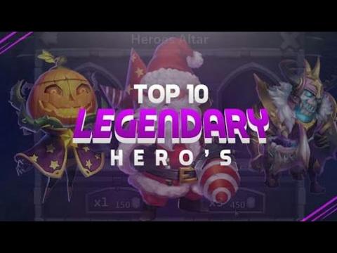 Castle Clash Top 10 Heroes Of 2017!