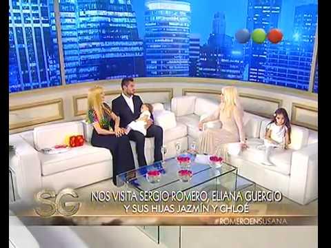 Sergio Romero y Eliana Guercio con Susana Giménez